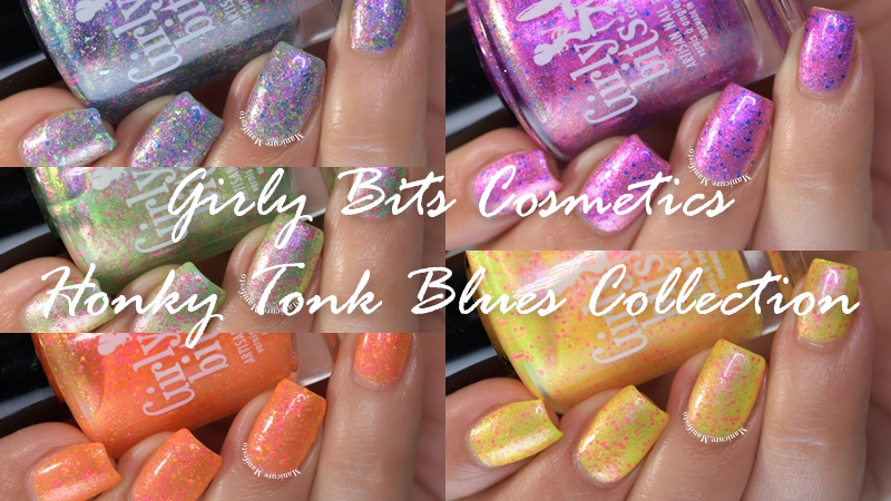 Girly Bits Cosmetics Honky Tonk Blues Collection Swatch