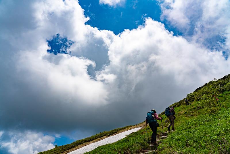 森吉山の急斜面