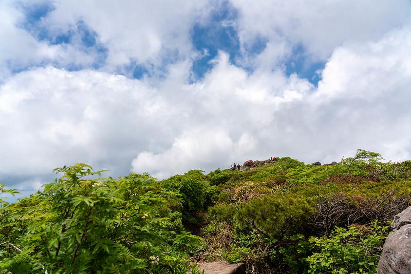 森吉山の山頂が見えてきた