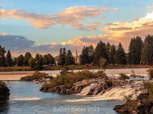 The Snake River in Idaho Falls, Idaho