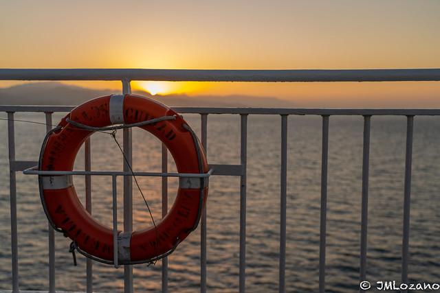 llegamos en barco