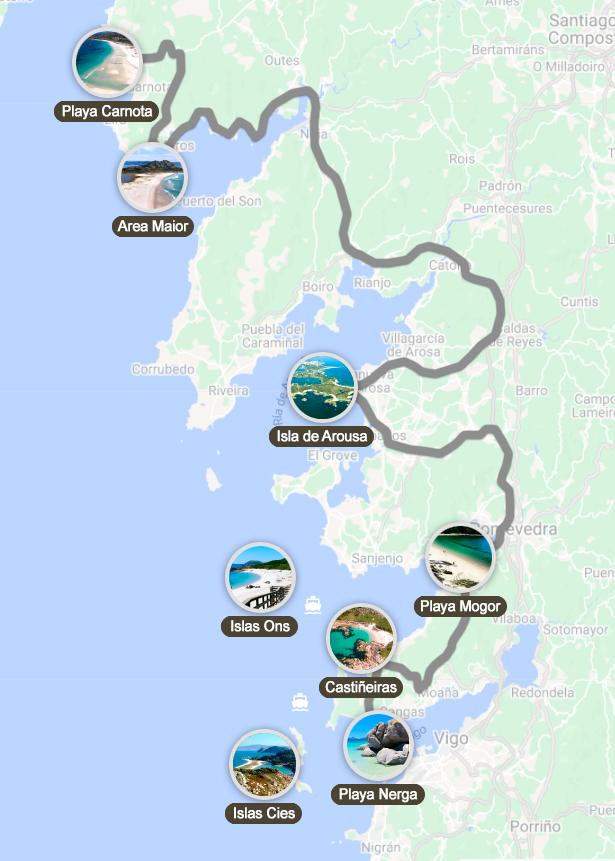 Ruta por las mejores playas de Galicia