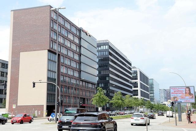 3929 Verwaltungsgebäude, Bürohäuser am Heidenkampsweg in Hamburg Hammerbrook.