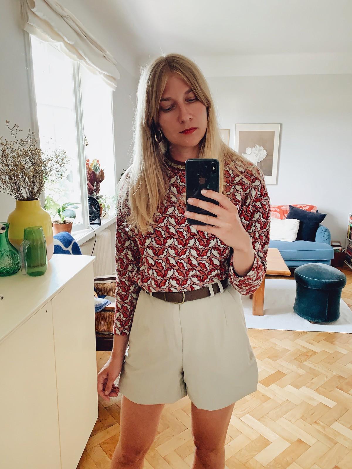 mönstrad tröja