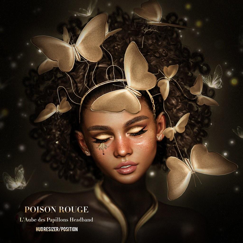 POISON ROUGE L'Aube des Papillons Headband @COSMOPOLITAN