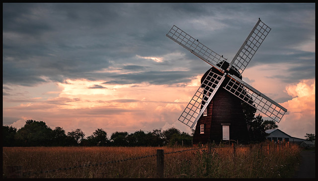 Sunset over Lacey Windmill (Explore)