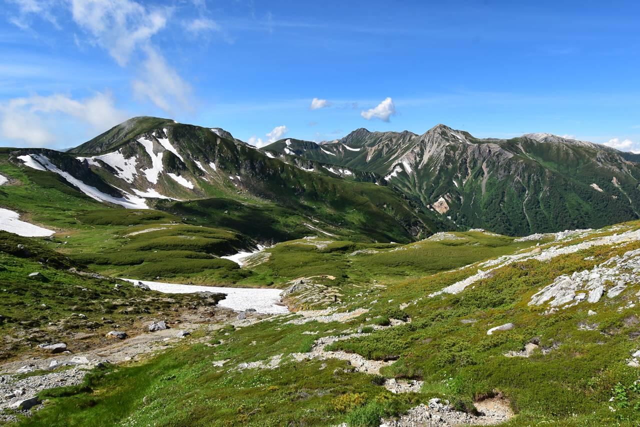 北アルプス双六岳からの展望