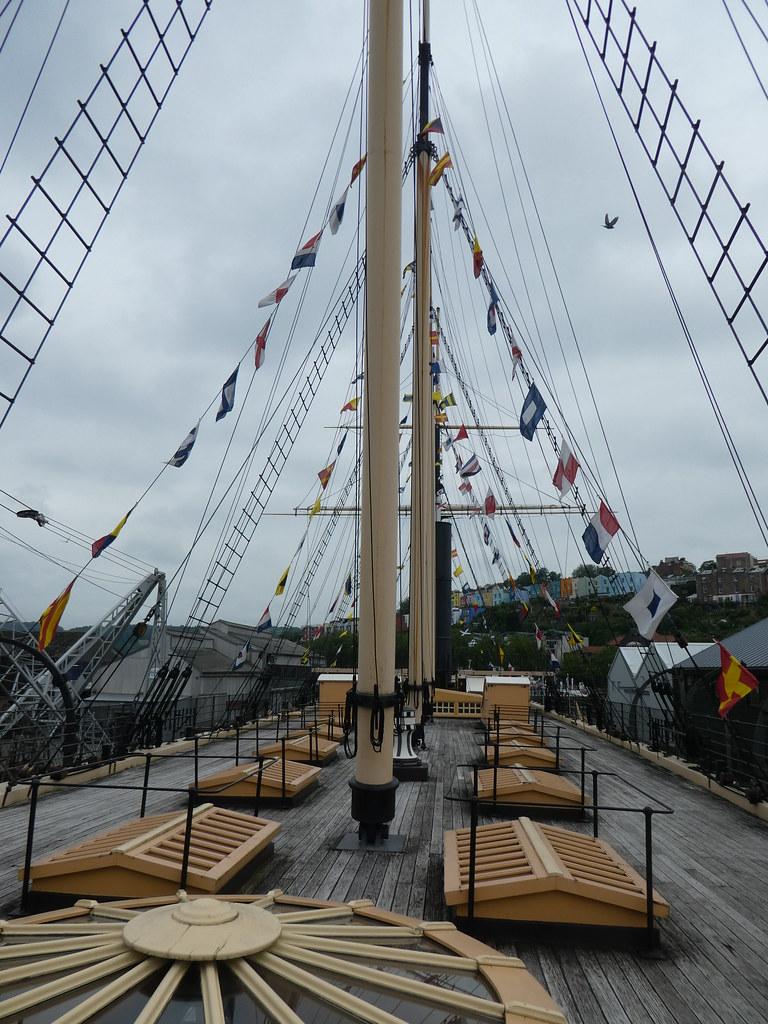 The upper weather deck, SS Great Britain, Bristol