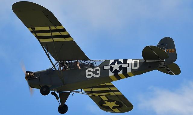Piper J3C-65 Cub L-4H Grasshopper 479766 G-BKHG 44-79766 USAAF