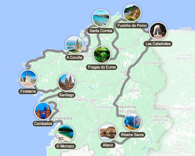Ruta por Galicia en 10 días en coche