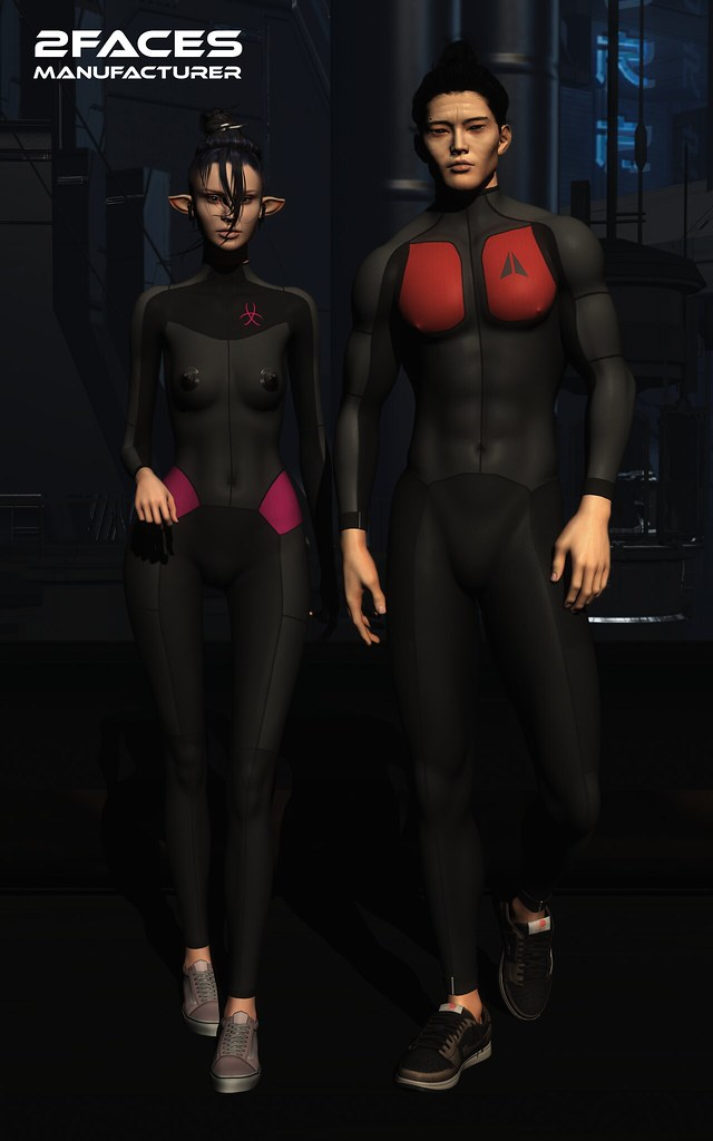 Space costume – Legacy M – Bom, five collors, rigged cuffs and collar