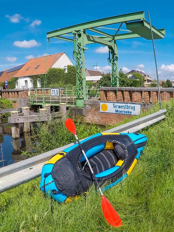 Belgium 2021-07-11: Packrafting Zuidlede & Moervaart