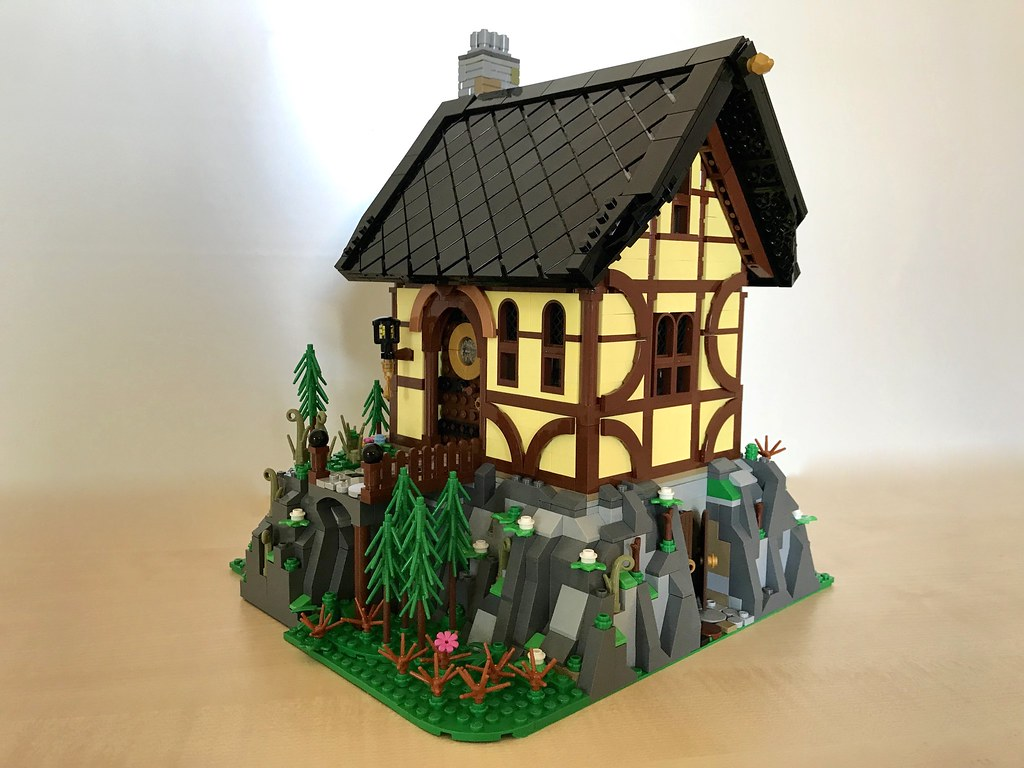 Half-timbered house on the rock 01
