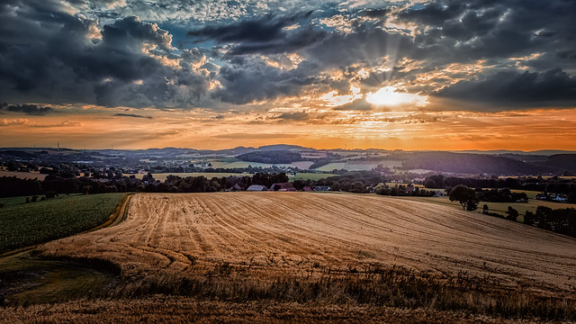 Sunset in Vlotho, Germany