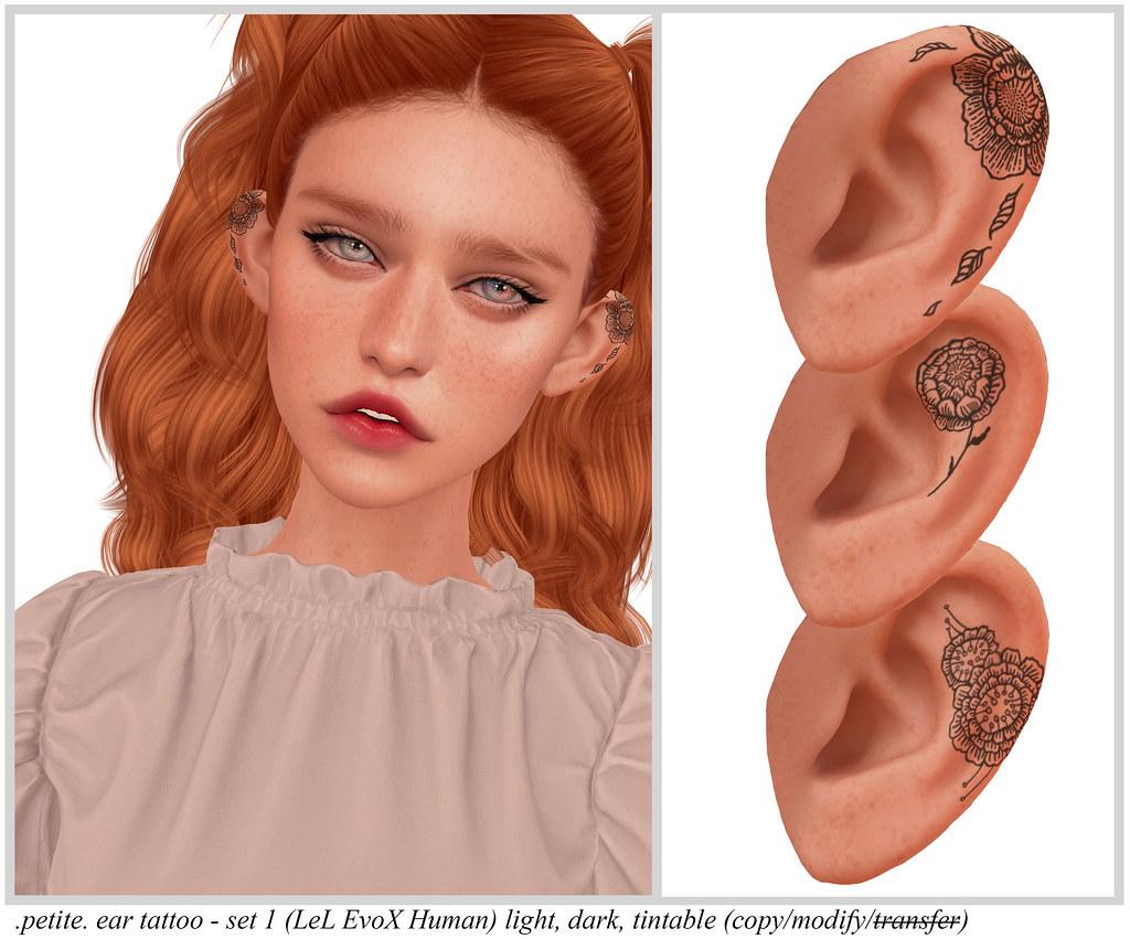 .petite. ear tattoo – set 1 (LeL EvoX Human)
