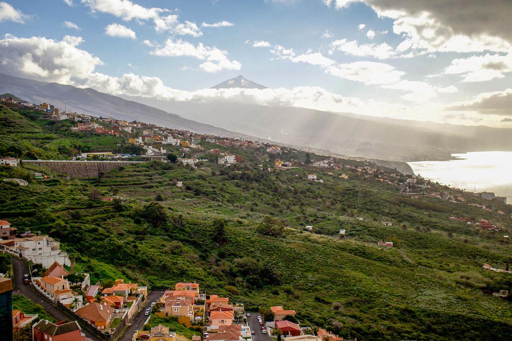 Vistas desde la Casa del Vino en Tenerife