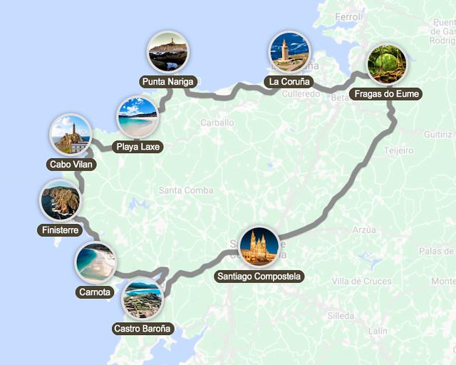 Ruta circular por Galicia en 5 días