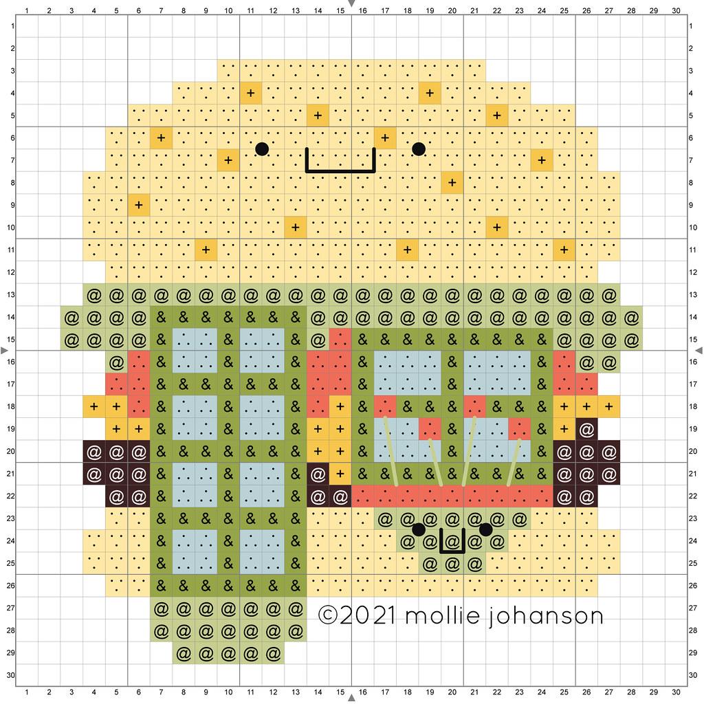 Big Burger House Cross Stitch