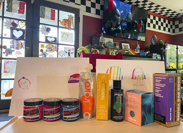 Rainbow Hair Diagrams And Supplies