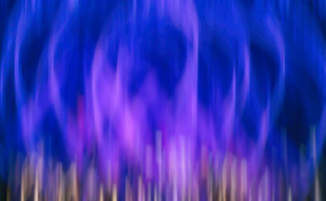 La grande flamme violette...
