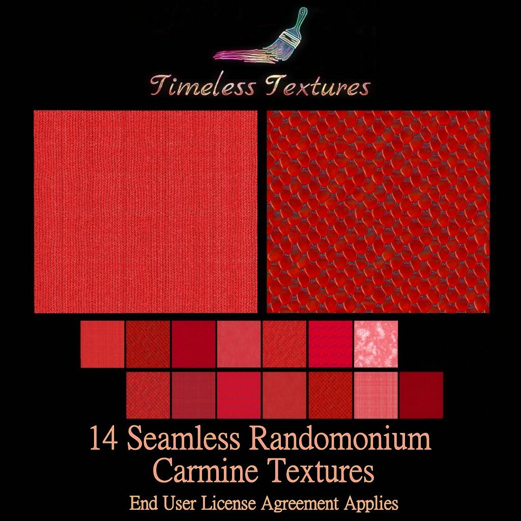 TT 14 Seamless Randomonium Carmine Timeless Textures