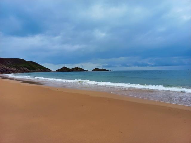 Lourtuais Beach in Erquy, Côtes-d'Armor region in Brittany, France
