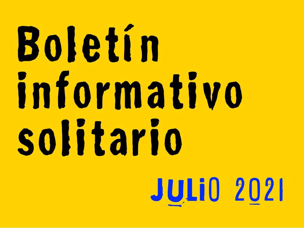 Boletín Informativo Solitario: julio 2021