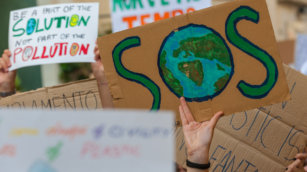 Young climate protesters.