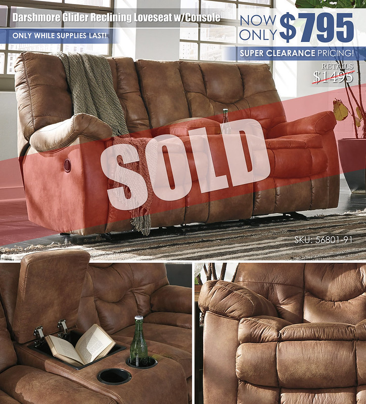 Darshmore Glider Reclining Loveseat_Clearance_56801-91_SOLD