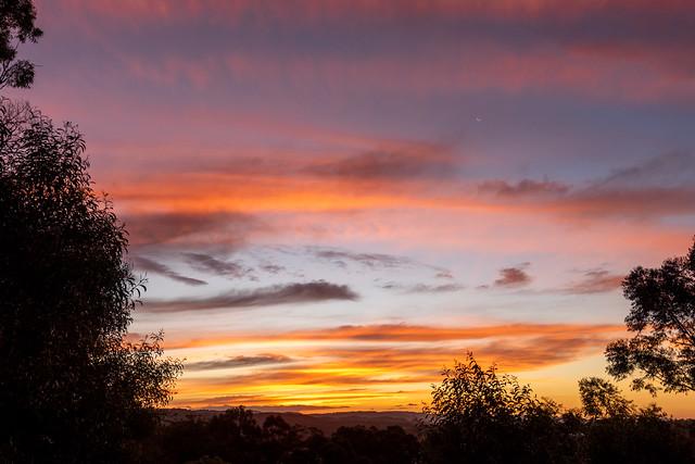 New Moon Sunset