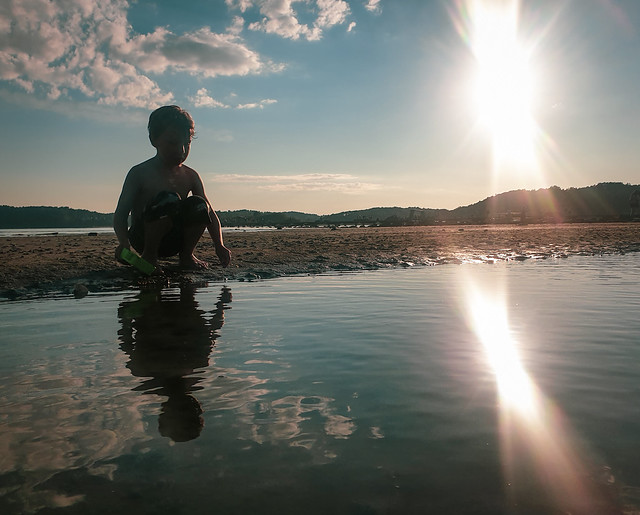 Boy By The Ocean IV