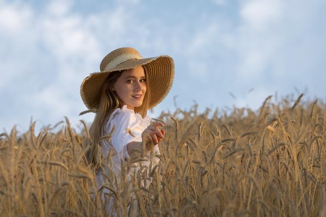 Grain field & Dorota