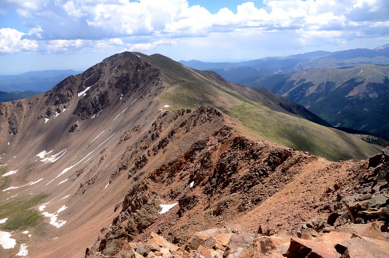 Looking east at Bard Peak from the summit of Mount Parnassus (2)