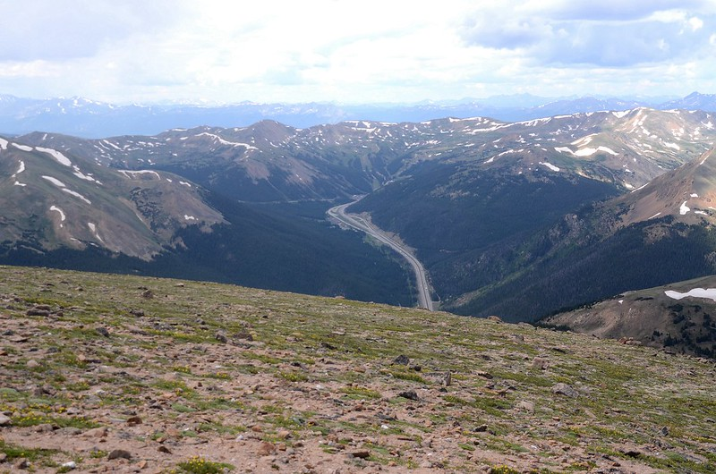Looking down onto I-70 HWY from the summit of Mount Parnassus