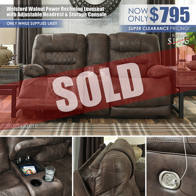 Welsford Power Reclining Loveseat Special_54303_SOLD