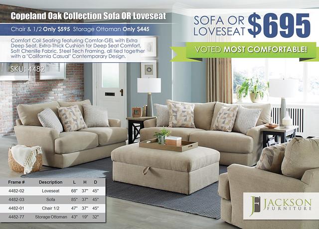 Copeland Oak Sofa OR Loveseat by Jackson Furniture wRibbon_4482