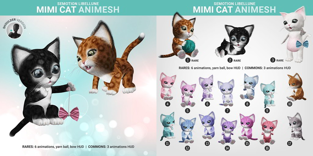 SEmotion Libellune Mimi Cat Animesh