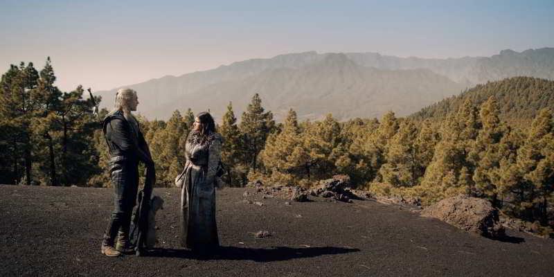 La Palma island landscapes scenes with dragon