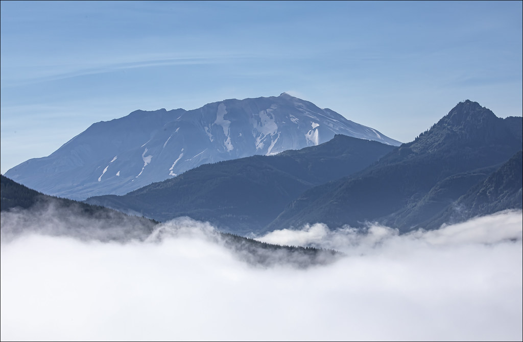 Mt St Helens Above the Mist