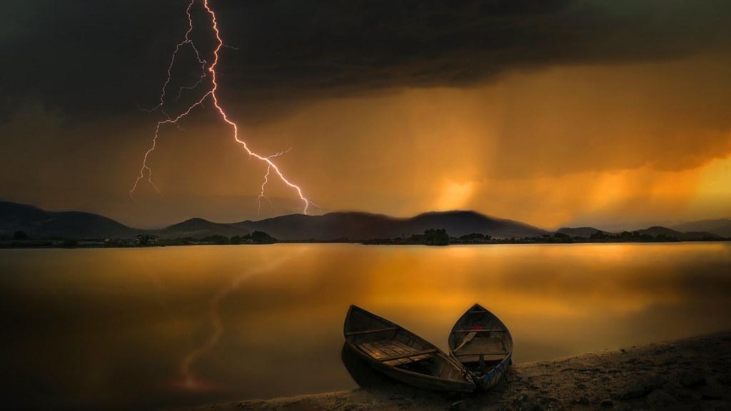 Stormy Lake in Vietnam