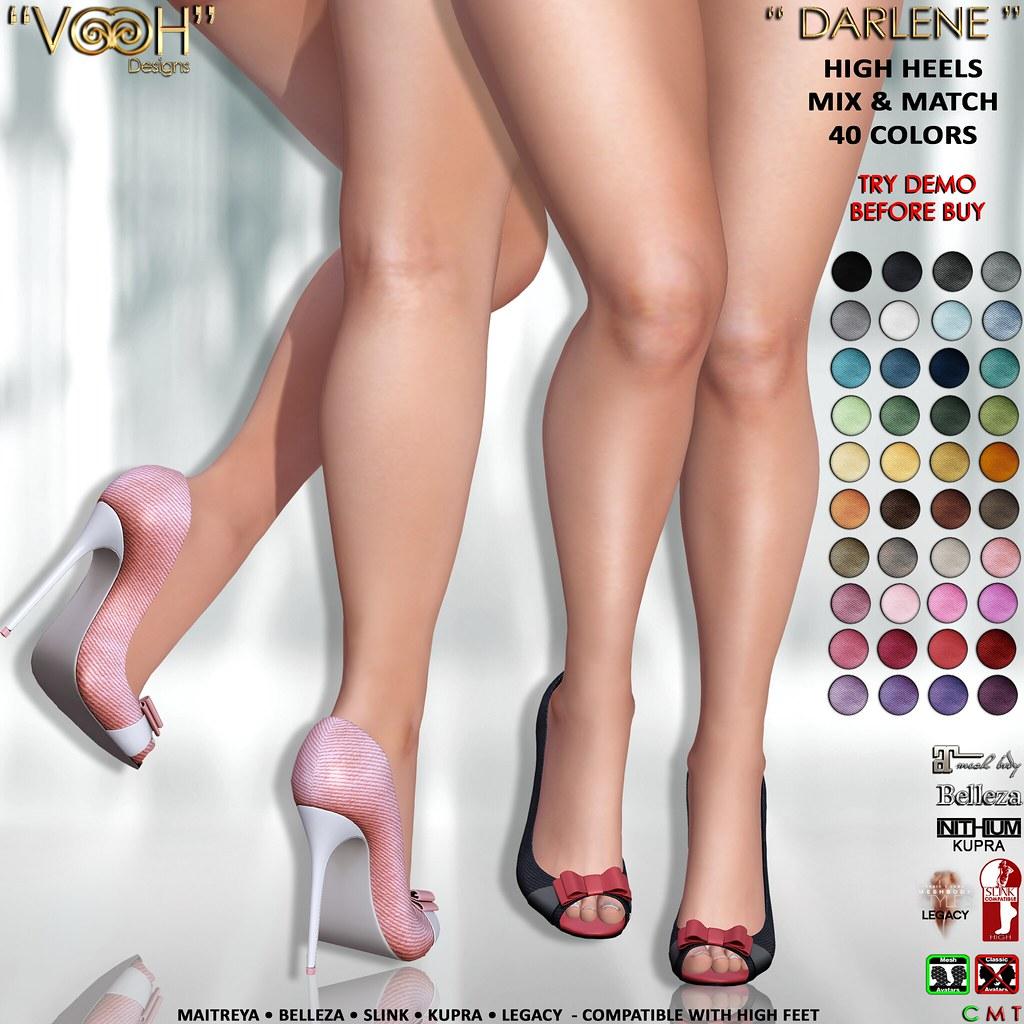 """ VOOH "" DARLENE HIGH HEELS MIX & MATCH 40 COLORS {KUPRA • LEGACY • MAITREYA • SLINK • BELLEZA HIGH FEET}"