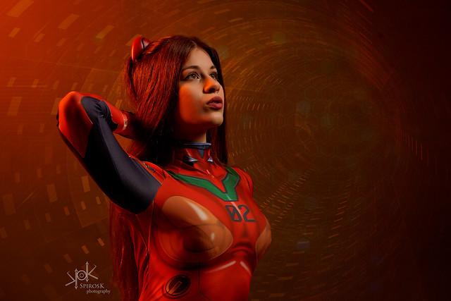 Anastasya N. as Asuka from Neon Genesis Evangelion by SpirosK photography (III: Attack on NERV hq)