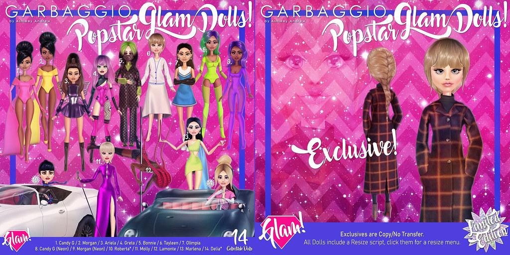 Popstar Glam Dolls Gacha Key & Exclusive