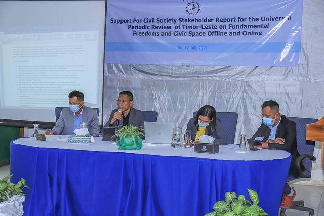 Presidente ANC Orador ba Konsultasaun Universal Periodic Review (UPR) iha Forum ONG Timor Leste (FONGTIL)