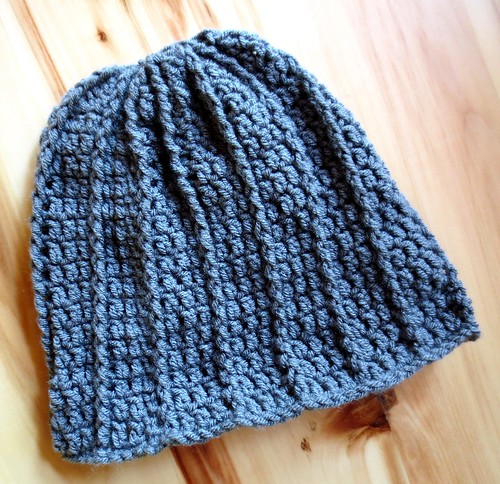 Grey Crocheted Cabled Hat