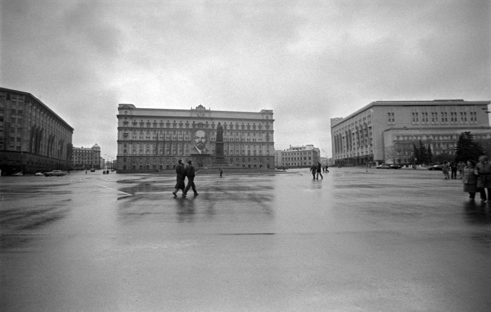 1985. На Лубянской площади.