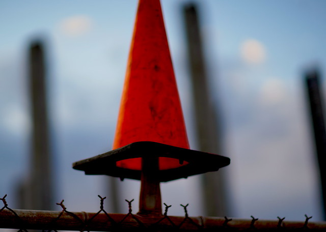 Witches hat on a fence