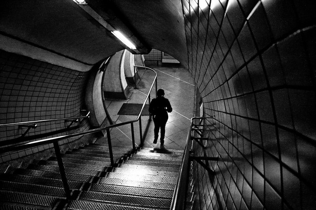 Descending one step at the time in a dark tunnel.
