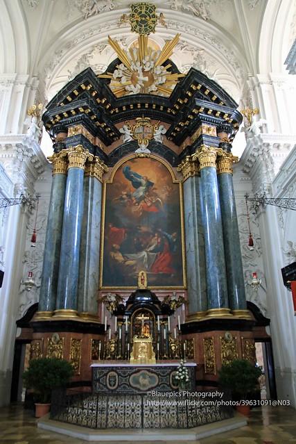 Ellwangen, Wallfahrtskirche Schönenberg, altar