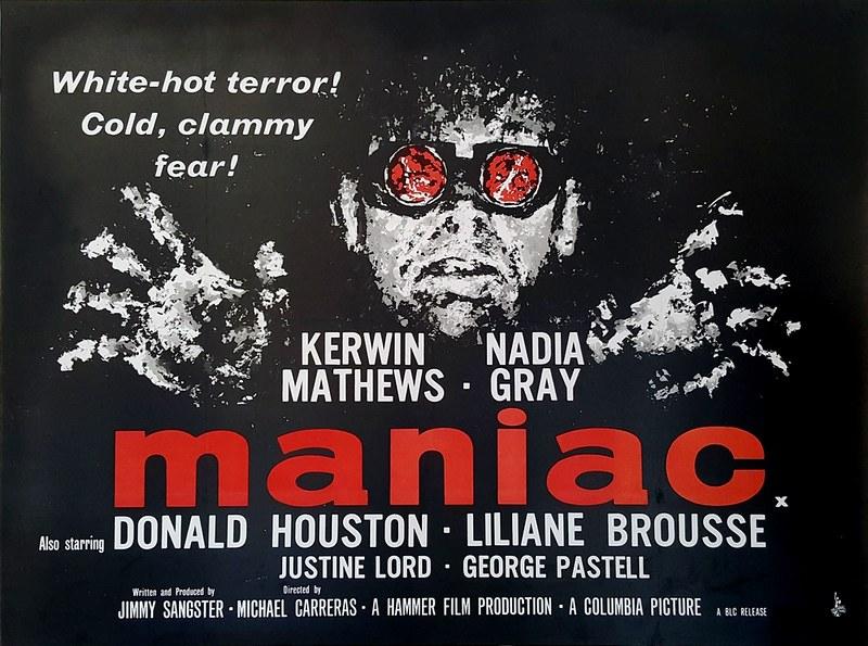 Maniac (Michael Carreras, 1963) Poster Quad Crown UK